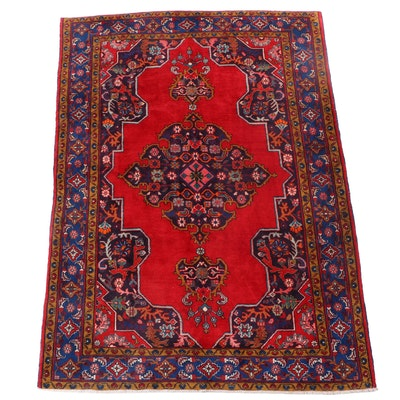 7'8 x 10'10 Hand-Knotted Persian Hamadan Area Rug