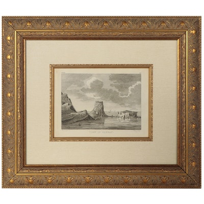 """Engraving After Moses Griffith """"View in Cannay"""""""