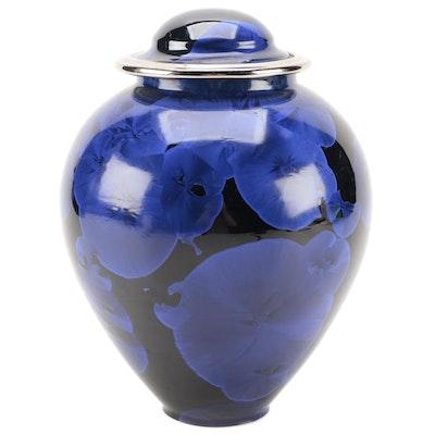Tim Marcotte Art Pottery Crystalline Gazed Porcelain Lidded Jar, 1998