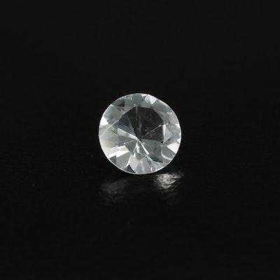 Loose 0.86 CT Round Faceted Aquamarine