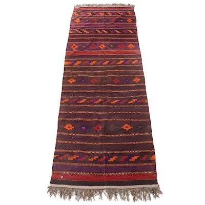 4'11 x 15'10 Handwoven Persian Kurdish Kilim Long Rug