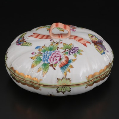 """Herend """"Queen Victoria"""" Porcelain Lidded Candy Dish"""