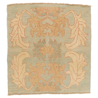 4'6 x 4'9 Hand-Knotted Turkish Donegal Area Rug