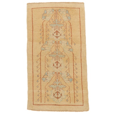 3'3 x 6' Hand-Knotted Turkish Donegal Area Rug