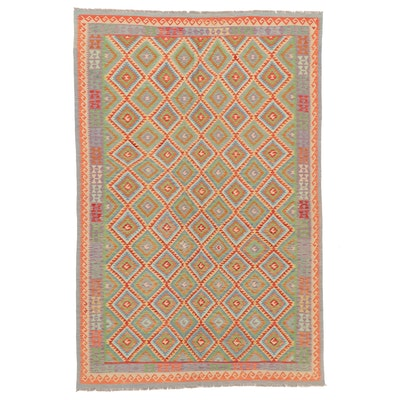 6'8 x 10'1 Handwoven Turkish Kilim Area Rug