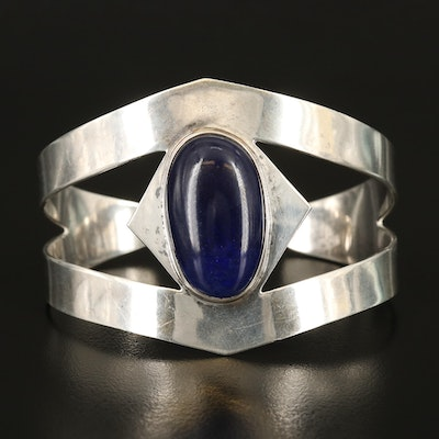 Mexican Sterling Glass Cuff