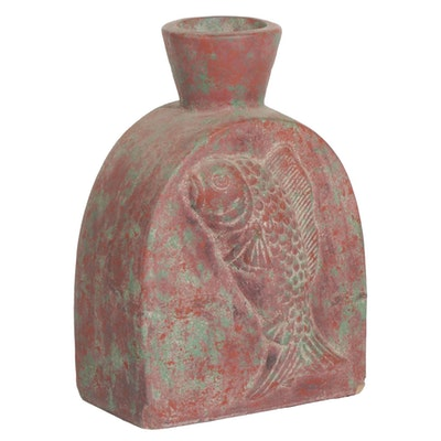Contemporary Ceramic Bottle Shaped Vase