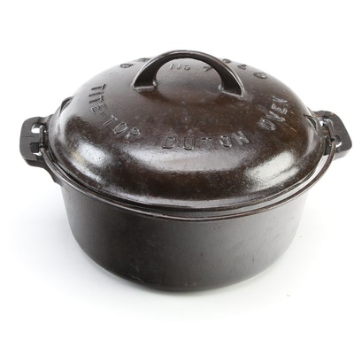 """Griswold Cast Iron """"Tite-Top"""" Dutch Oven, Early to Mid 20th Century"""