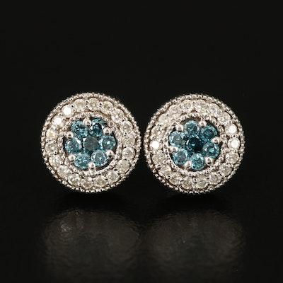 14K 0.54 CTW Diamond Cluster Earrings