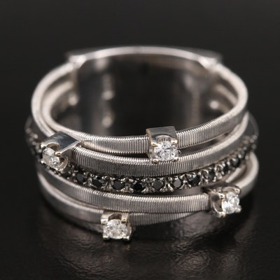Marco Bicego 18K 0.25 CTW Diamond Crossover Ring