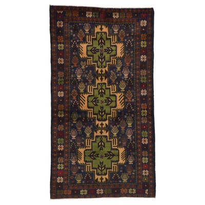 3'7 x 6'7 Hand-Knotted Afghan Baluch Area Rug