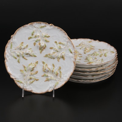 Theodore Haviland Limoges Porcelain Hors d'oeuvres Plates