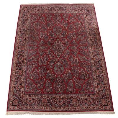"8'8 x 12'7 Machine Made Karastan ""Red Sarouk"" Room Sized Rug"