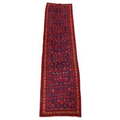 3'4 x 13'8 Hand-Knotted Persian Sarouk Herati Long Rug