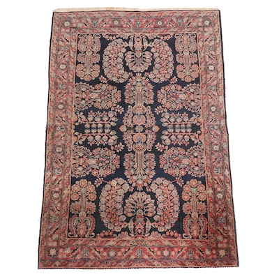 4'4 x 6'10 Hand-Knotted Persian Sarouk Area Rug