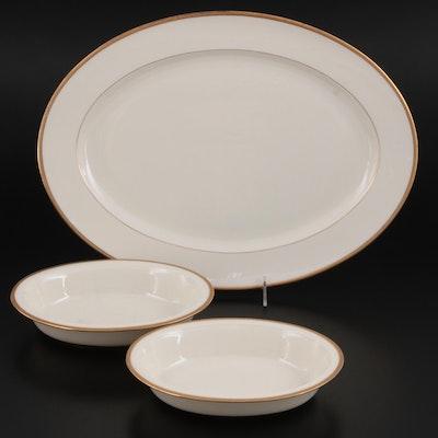 "Lenox for Tiffany & Co. ""Lowell"" Porcelain Vegetable Bowls and Serving Platter"