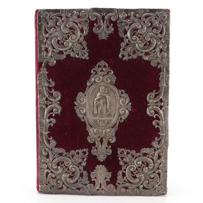 Illustrated Latin Canon Missæ Folio, 17th Century