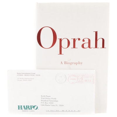 """First Edition """"Oprah: A Biography"""" with Letter Signed by Oprah Winfrey"""