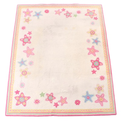 7'10 x 9'10 Hand-Hooked Floral Area Rug