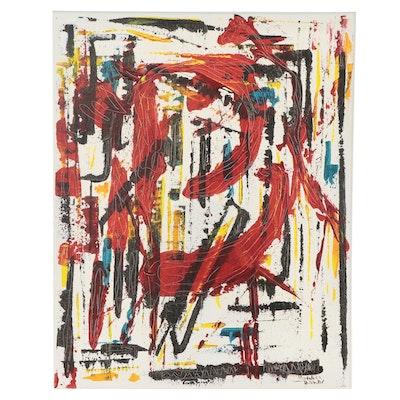 Magdalena Halikotic Abstract Acrylic Painting, 21st Century