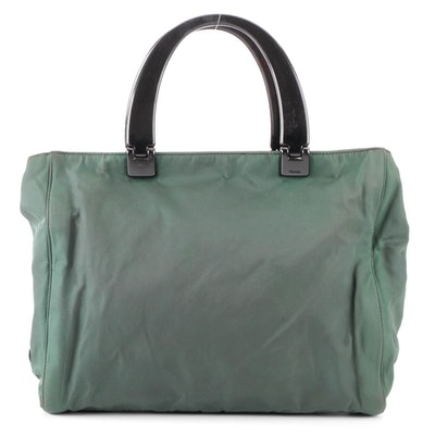 Prada Small Tote Bag in Tessuto Nylon with Composite Handles