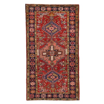3'8 x 6'8 Hand-Knotted Persian Lamberan Signed Area Rug