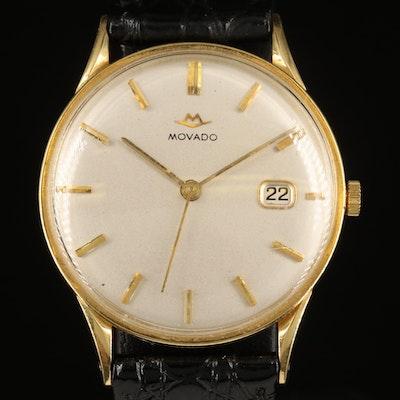 18K Movado Stem Wind Wristwatch