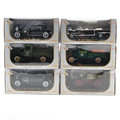 Signature Models Ford, Cadillac and Chrysler 1:32 Scale Model Cars