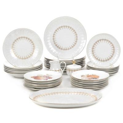 "Hennenberg Porzellain ""Petals Collection"" Dinnerware, Late 20th Century"