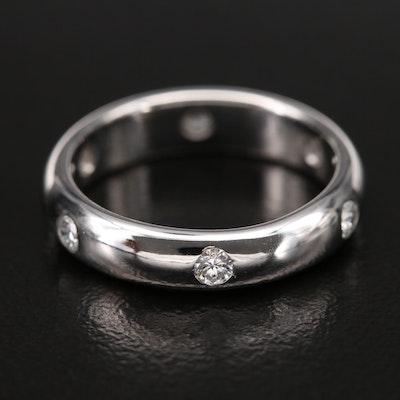 "Cartier ""1895 Wedding Band"" 18K 0.30 CTW Diamond Band"