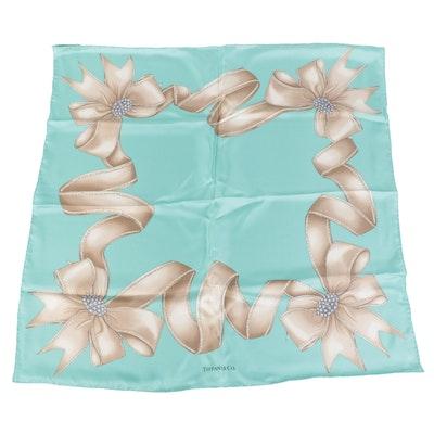 Tiffany & Co. Printed Scarf in Silk Twill with Box