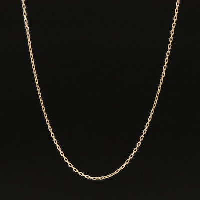 14K Square Cable Chain Necklace