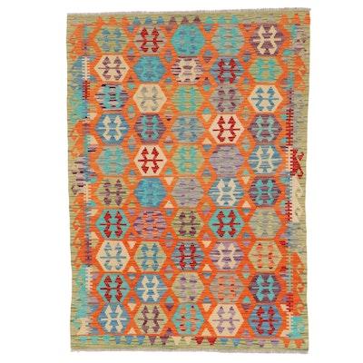 4'2 x 5'10 Handwoven Turkish Kilim Area Rug