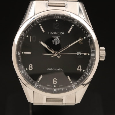 TAG Heuer Carrera Automatic With Date Stainless Steel Wristwatch