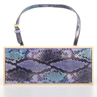 Suarez New York Dyed Python Skin Handbag