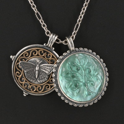James Avery Butterfly and Tree of Life Pendant Necklace