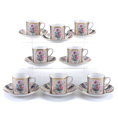 """Spode """"The Cabinet Collection"""" Flat Demitasse Cups and Saucers"""