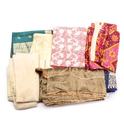 Paisley Floral Shawls and Fabric Remnants