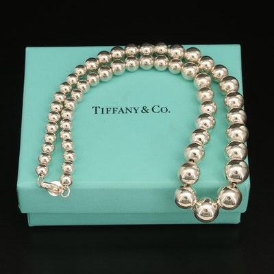 """Tiffany & Co. """"Hardware"""" Sterling Graduated Necklace"""