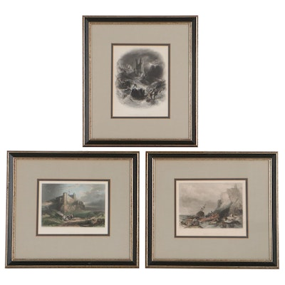 Edward Francis Finden Hand-Colored Engravings After George Balmer