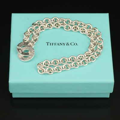 """Tiffany & Co. """"1837"""" Sterling Rolo Chain Necklace"""