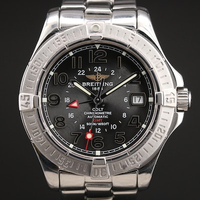 Breitling Colt GMT Automatic Stainless Steel Wristwatch