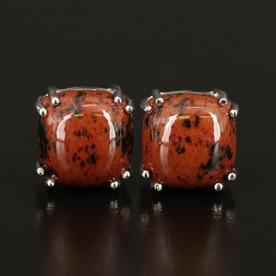 Sterling Mahogany Obsidian Earrings