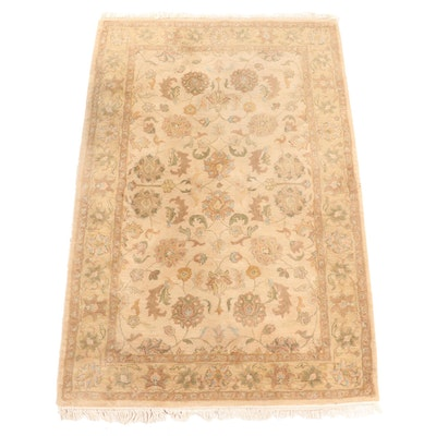 5' x 8'3 Hand-Tufted Indian Floral Area Rug