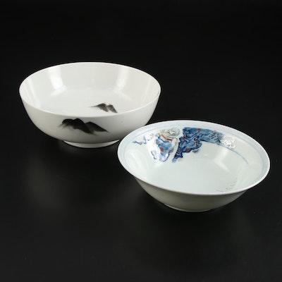 Japanese Imari Style Porcelain Bowls