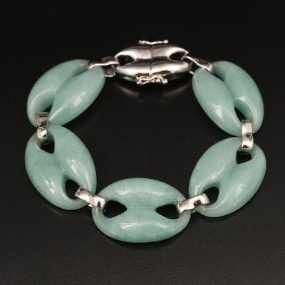 Sterling Jadeite Bracelet
