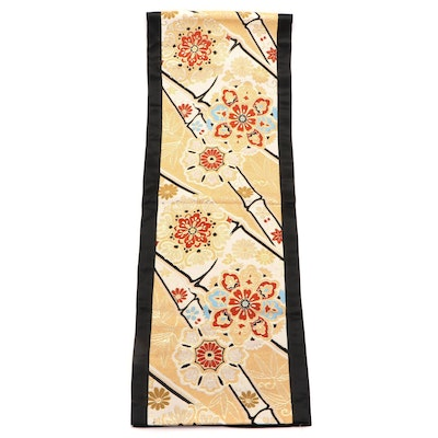 Patch Magic Imperial Chrysanthemum and Bamboo Converted Obi Table Runner