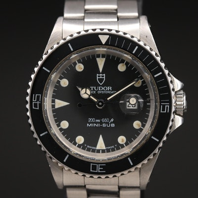 Tudor Prince Oysterdate Mini Sub Stainless Steel Wristwatch