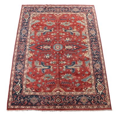 8'8 x 12'3 Hand-Knotted Indian Mahal Room Size Rug