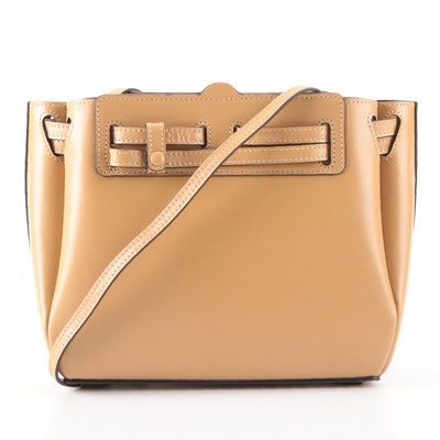 Loewe Lazo Mini Shoulder Tote Bag in Dune Leather with Detachable Strap in Box